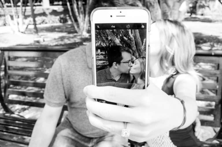 Couple picture selfie